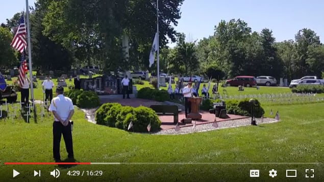 2017 Mahomet American Legion Memorial Day Service